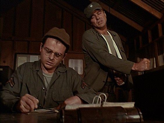 M*A*S*H: Season 2, Episode 24 A Smattering of Intelligence (2 Mar. 1974)  Edward Winter , Col. Samuel Flagg ,  mash, 4077, Gary Burghoff , Corporal Walter Eugene Radar O'Reilly