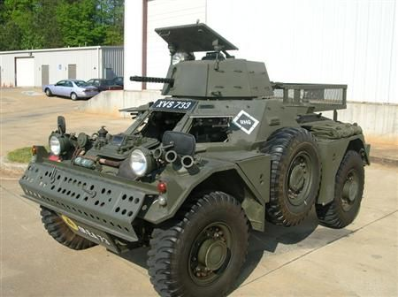 """1960 Ferret armored assault car... I mean, """"practical"""" just depends on what you want you're trying to accomplish, right?"""