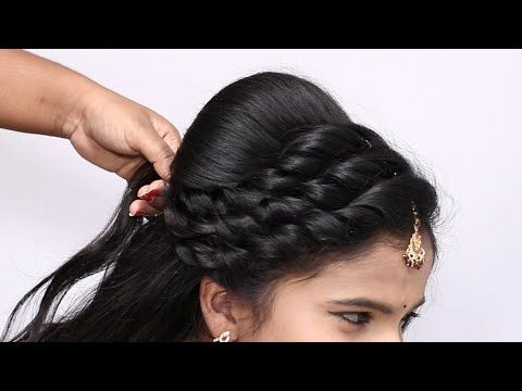 Latest Beautiful Wedding Party Hairstyles For Saree Latest Hairstyles Hairstyles For Weddin Party Hairstyles For Long Hair Front Hair Styles Bridal Hair Buns