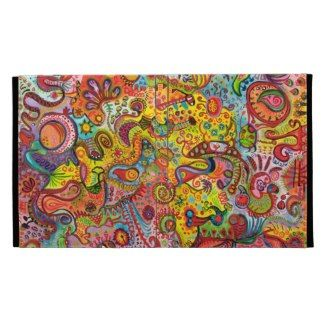 Colorful Trippy Abstract iPad Case Caseable Folio