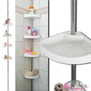PORTE ACCESSOIRE Etagère de douche télescopique, étagère d'angle