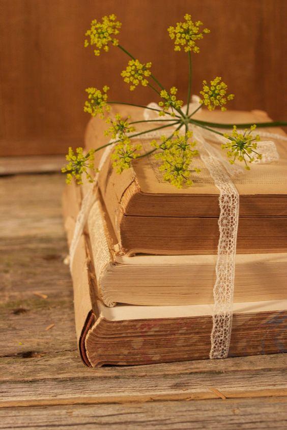 Antique Book Bundle for Vintage Wedding Decor by vintageweddingbee, $24.00