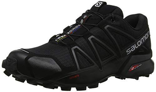 Salomon Men S Speedcross 4 Trail Running Shoe Black 7 5 Wide Us All4hiking Com Running Shoes For Men Running Shoes Runners Mens Trail Running Shoes