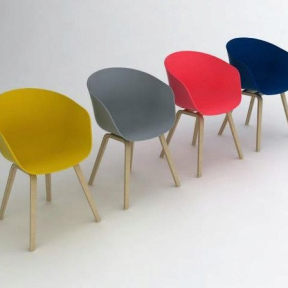 hay want them all color pop art pop interior design chair aac22 azul hay