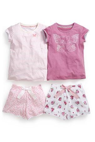 Comprar Pink Pyjamas curto Two Pack (3-16yrs) a partir da próxima loja online Reino Unido