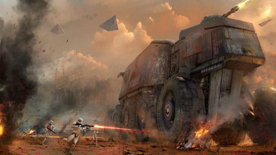 Star Wars Stormtroopers Fantasy Art Artwork Bwing Down: Ground Assault (Juggernaut)