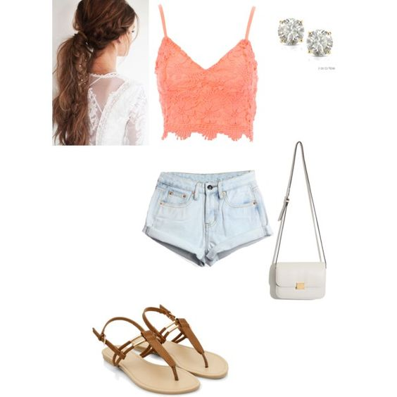 Peach by sierramae on Polyvore featuring polyvore, fashion, style, Jane Norman and Auriya