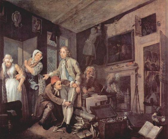 A Rake's Progress  William Hogarth