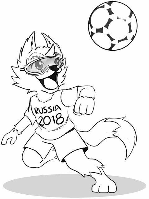 Resultado De Imagem Para Mascote Da Copa 2018 Para Colorir Com