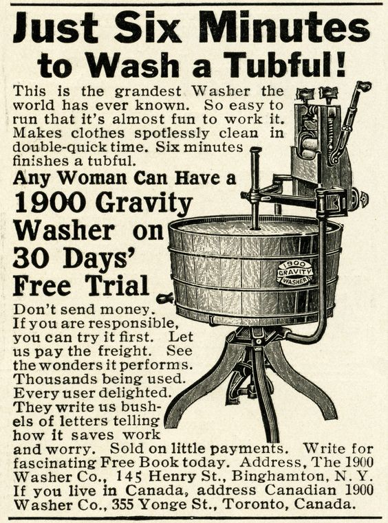1900 advertisements | Free Vintage Image Gravity 1900 Washing Machine Ad and Clip Art | Old ...