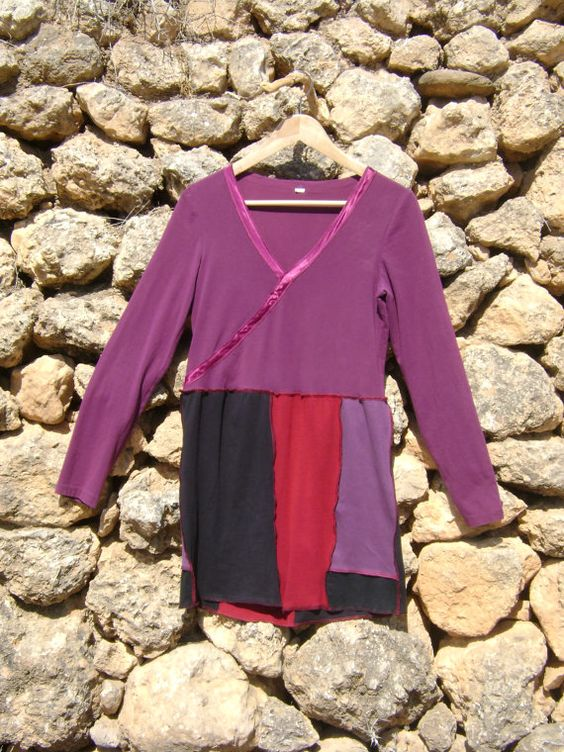 Upcycled Tunic Dress - Purple by NuLifeClothing