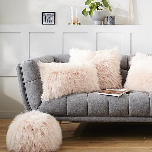 faux fur 55 floor pillows by evelyne