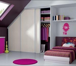 Dressing sous pente mobalpa placard chambre sous comble pinterest dres - Dressing sous combles ...