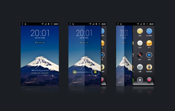 Smart phone Unlock UI concept | Design: ididi - http://dribbble.com/ididi