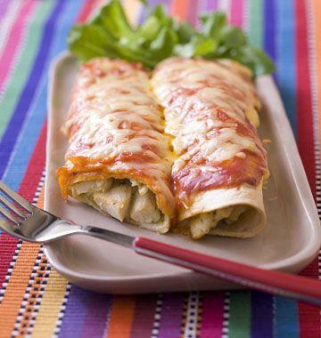 Enchiladas au poulet et fromage - Recettes mexicaines