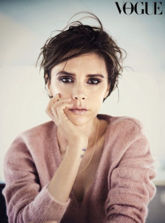 Natural beauty: Victoria Beckham shunned her celebrity image during an interview for the September issue of Vogue Australia