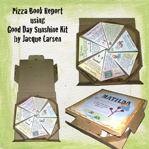 Pizza Box Book Report Projects Students Will Love