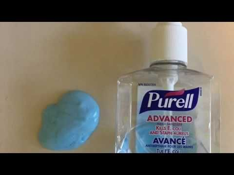 Hand Sanitizer Slime Recipie Youtube Hand Sanitizer Slime