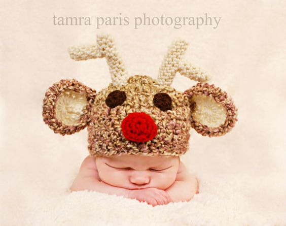 Christmas Hat  Reindeer Hat by Lollypopsboutique on Etsy, $22.00