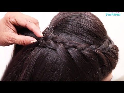 Beautiful Hairstyle For Wedding Party Function Hair Style Girl Braided Bun Hairstyles For Hair Styles Braided Bun Hairstyles Prom Hairstyles For Long Hair