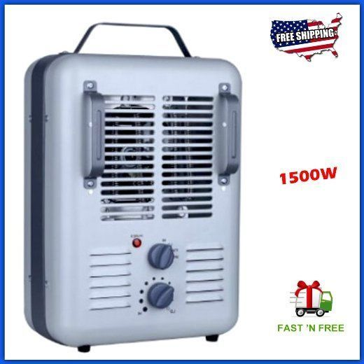 Industrial Space Heater Fan Thermostat Confined Garage Indoor