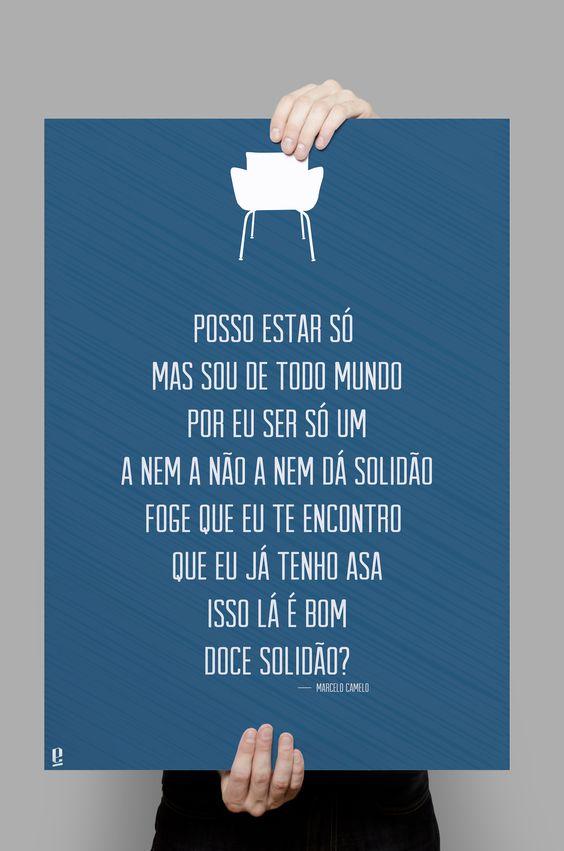 Poster Tipográfico Inspirado na Música de Marcelo Camelo - Doce Solidão