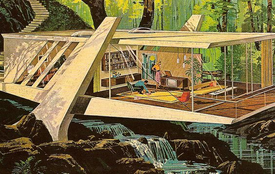 mid-century modern illustration: