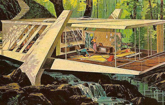 mid-century modern illustration: