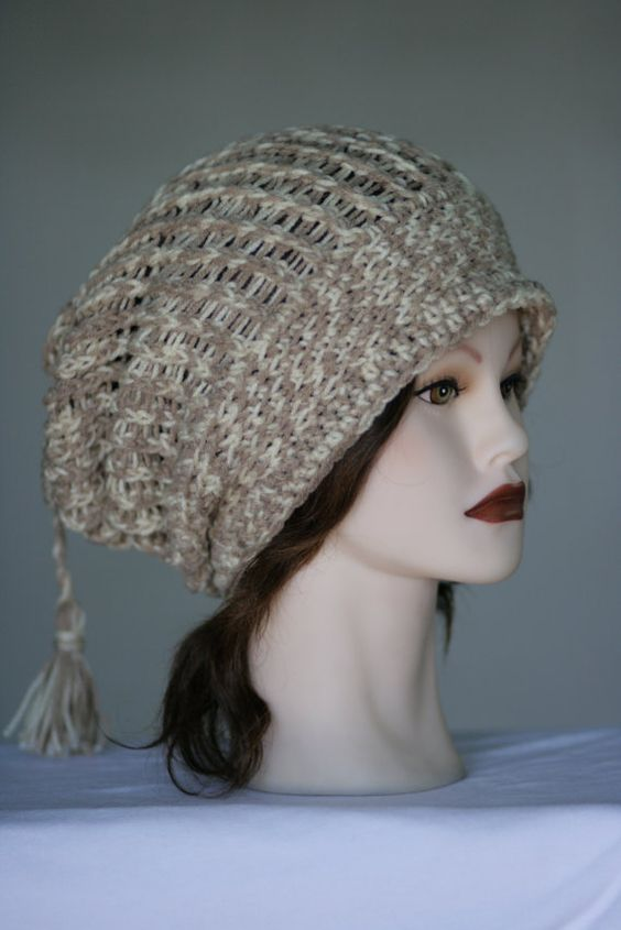 Super Comfy Slouchy Beanie in Natural Sands with by 2Sweeties