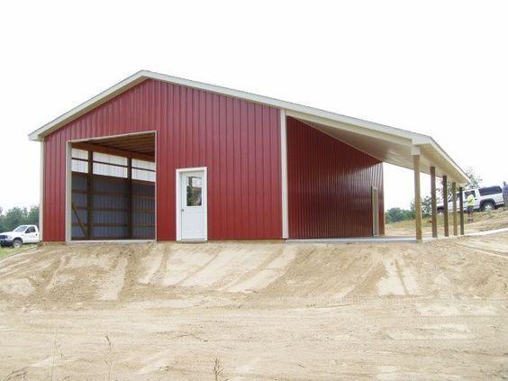 30 x 40 pole barn big shed pinterest for Pole barn specs