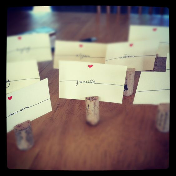 my homemade dinner party name tags