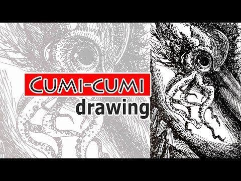 Cara Menggambar Hewan Laut Cumi Cumi Youtube Pen Drawing Drawings Art