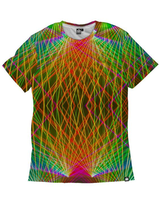 RUKES Rainbow Lasers Men's Tee