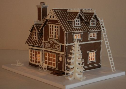 How cute this would be on a table in the foyer for Gingerbread house inspiration