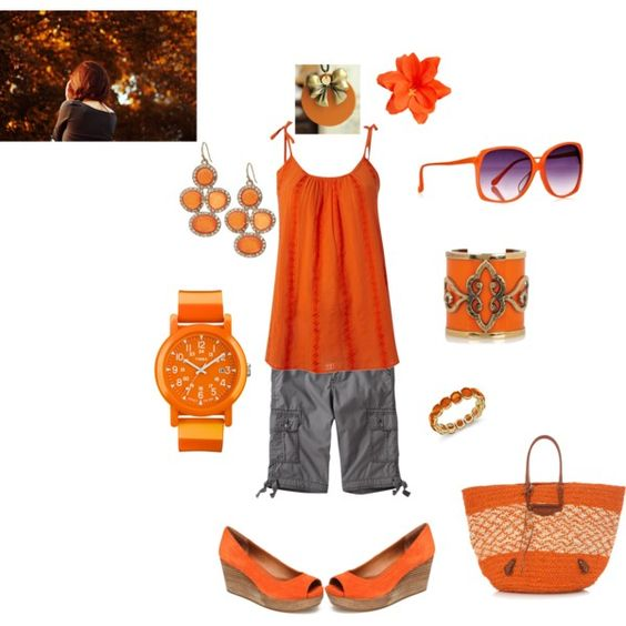 """""""Orange"""" by loveyabunches on Polyvore"""