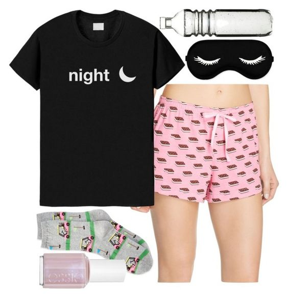 """""""Goodnight!"""" by freedom2095 ❤ liked on Polyvore featuring HOT SOX, Jane & Bleecker, Essie and Dot & Bo"""