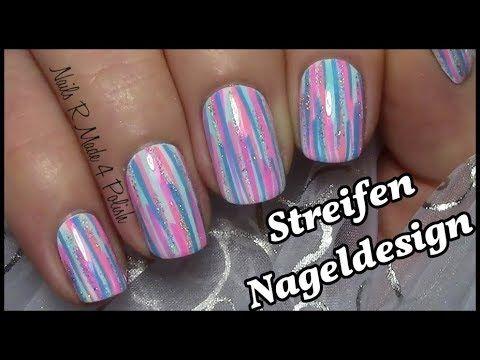 Einfaches Streifen Muster Nageldesign Kurze Nagel Mit Nagellack Lackieren Easy Nailart Short Nails Nageldesign Nagel Lackieren Muster Nageldesign Kurze Nagel