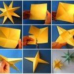 Sterne aus Papier falten – Anleitung