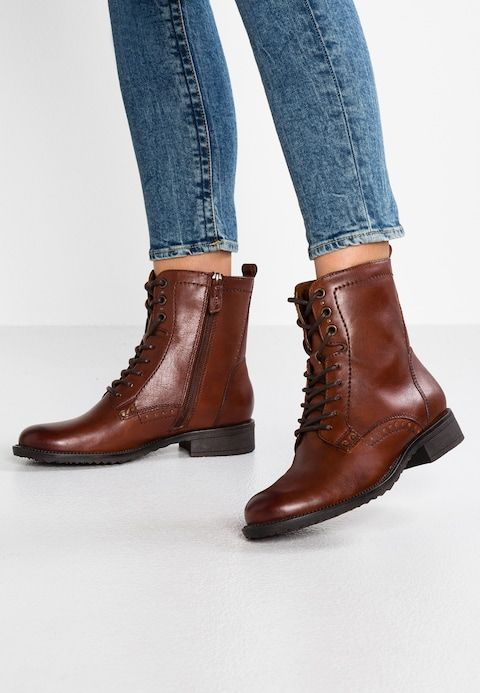 Lace up ankle boots cognac @ Zalando.co.uk in 2020