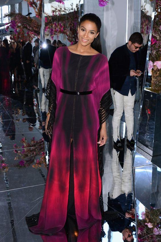 Pin for Later: Les Stars Sont au premier Rang Pour la Fashion Week de New York Ciara Au défilé Gabriela Cadena.