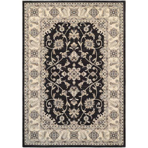 Couristan 89723363311053t Everest Rosetta Ebony Rug Brown Traditional Bellacor Area Rugs Traditional Area Rugs Rugs