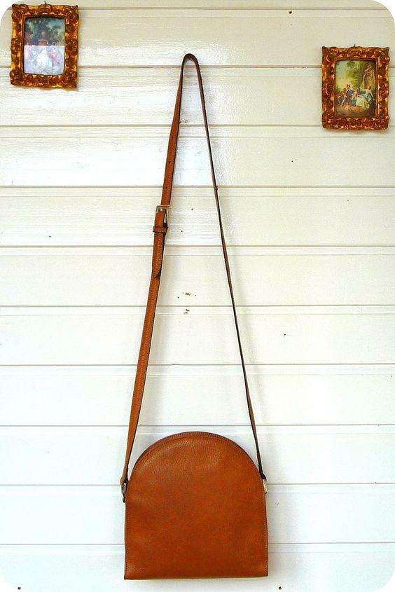 DISSER LEDER Tasche Bag Schultertasche 70er Purse Leather Crossover Handtasche | eBay