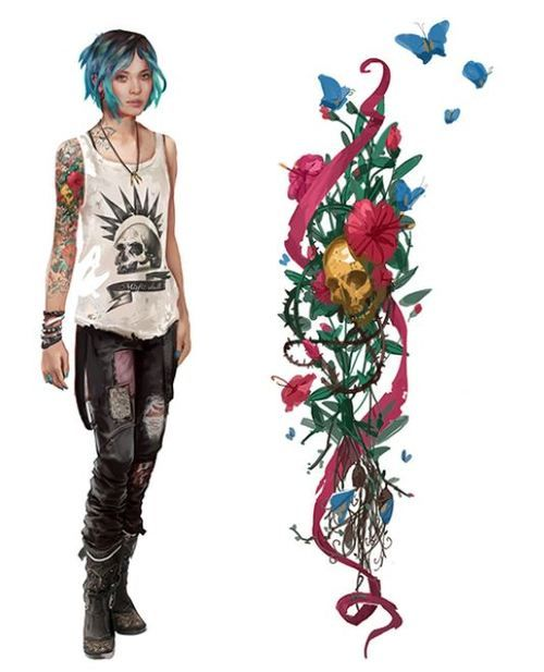 Character Design Price : Life is strange chloe s tattoo google search tattoos