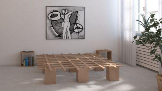 Tojo System Bett, Gästebett, Schlafmöbel, Holzbett, Doppelbett, Singlebett | eBay