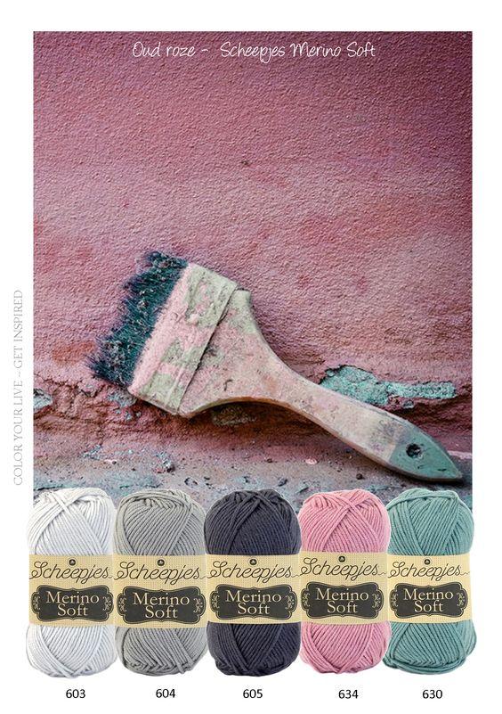 Oud roze - Mooie warme tinten Merino Sof. Dit garen is geïnspireerd door beroemde kunstenaars als Van Gogh, Picasso en Rembrandt. Het is heerlijk zacht en luxueus en iedere kleur is vernoemd naar een andere kunstenaar. Door de fijne structuur van de merino wol voelt het garen zijdeachtig aan. Dit maakt het perfect geschikt voor het maken van sjaals, kleding, dekens en kussens.