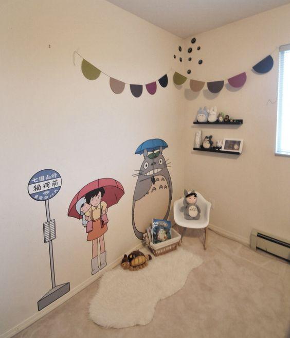 Totoro bedroom decor in the works #totoro #bedroom #studioghibli #decor