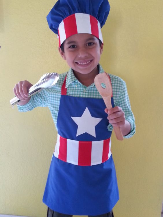 kids superhero apron and chef hat combo apron and hat set apron and chef hat set for girls or. Black Bedroom Furniture Sets. Home Design Ideas