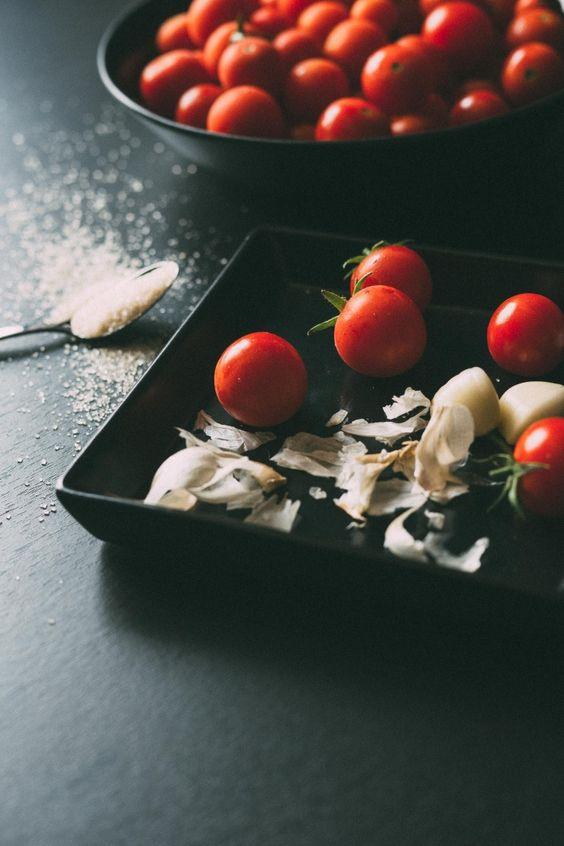 tomates cherry confitados pomodorini