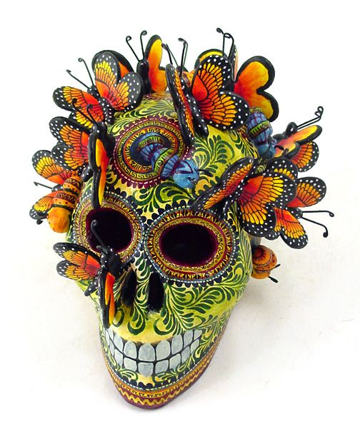 Spectacular Monarch Butterflies Skull Created By Renowned