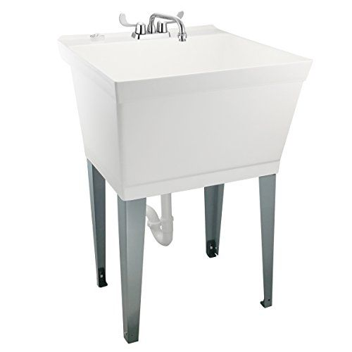 19 Gallon Laundry Utility Tub By Maya Heavy Duty Faucet Laundry Room Makeover Utility Sink Plastic Flooring